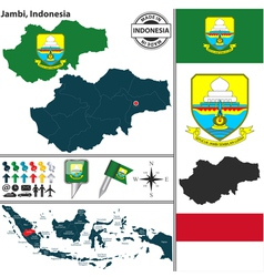 Map of Jambi vector image vector image