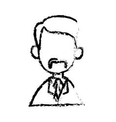 portrait character doctor man sketch vector image
