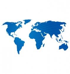 stripey world map vector image