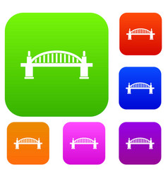 bridge set color collection vector image vector image