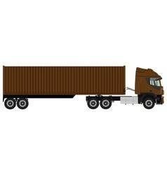 Brown cargo truck vector image vector image