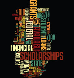 money for college where is it and how do i get it vector image vector image