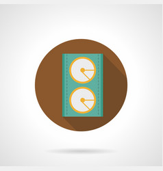 music equipment brown round icon vector image