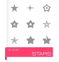 stars icon set vector image vector image