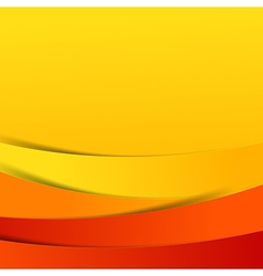 Abstract red orange yellow background overlap vector image vector image