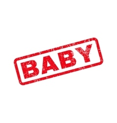 Baby Text Rubber Stamp vector image