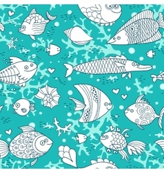 Background underwater world Seamless pattern with vector image vector image
