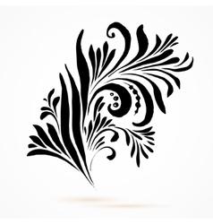 Black and white hohloma vector image vector image
