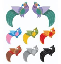 decorative birds vector image vector image
