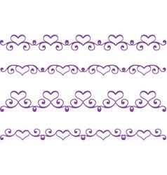 floral heart border vector image vector image
