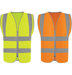 safety vests vector image vector image