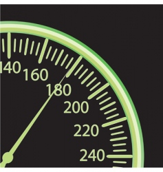 vector illustration of a speedometer vector image