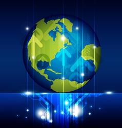 world technology future vector image vector image