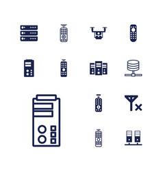 13 remote icons vector