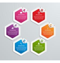 Abstract hexagon infographics template vector image