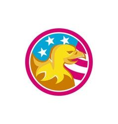 American Bald Eagle USA Flag Circle Retro vector