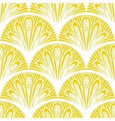 Art deco geometric pattern in bright yellow vector image