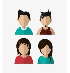 assorted people portrait icons image vector image