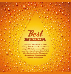 Beer with condensed water pearls vector image