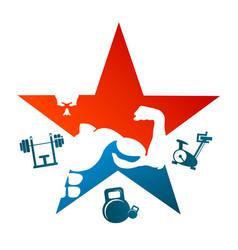 bodybuilding symbol design vector image