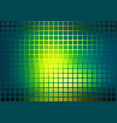 Bright yellow green abstract rounded mosaic vector