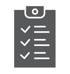 checklist glyph icon document and form report vector image