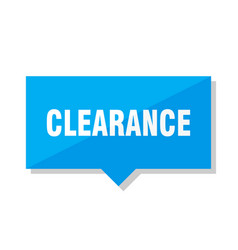 Clearance price tag vector