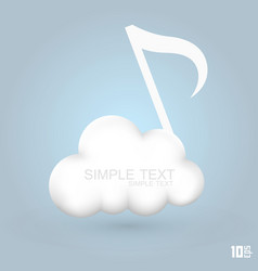 cloud melodies vector image