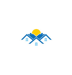 creative three building house logo vector image