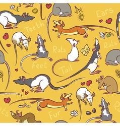 Cute rats vector