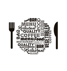 cutlery tools restaurant menu vector image