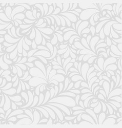 damask teardrop white ornament seamless pattern vector image
