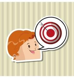 Digital marketing design target icon multimedia vector