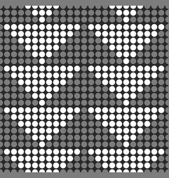 dotted background with triangles grayscale vector image
