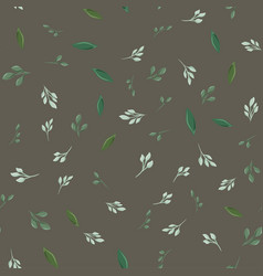 drawing of seamless pattern with different leaves vector image