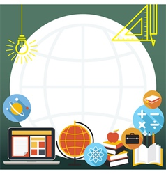 Education Icons Objects Frame vector image