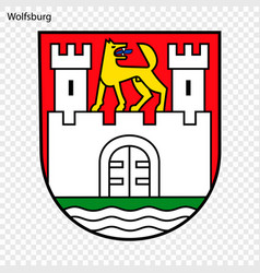 Emblem of city of germany vector