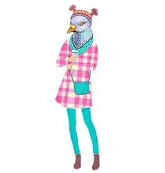fashion animal anthropomorphic vector image