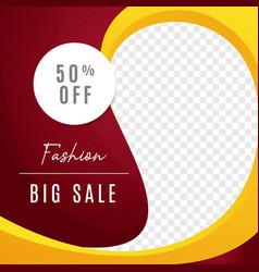 Fashion big sale multipurpose social media post vector