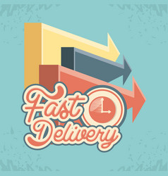fast delivery with chronometer travel vector image