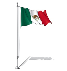 Flag Pole Mexico vector image