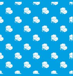 Flour production pattern seamless blue vector