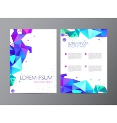 Flyer colorful brochure abstract design 2 vector