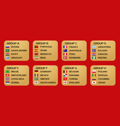 football world cup groups vector image