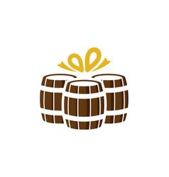 Gift beer logo icon design vector