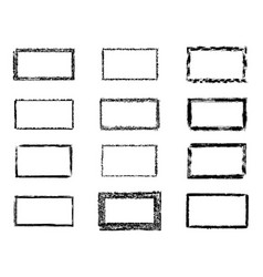 Grunge rectangles banners logos icons labels and vector