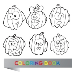 Halloween - coloring book vector image