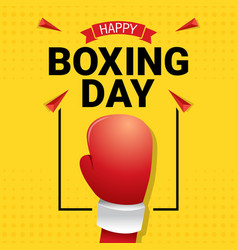 Happy boxing day celebration vector