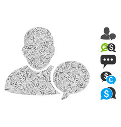 Hatch mosaic user hint balloon icon vector
