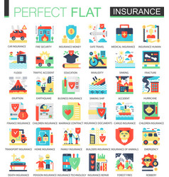 Health car house insurance complex flat vector